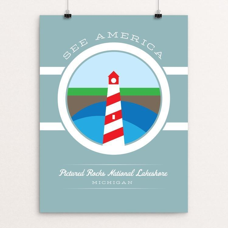"Pictured Rocks National Lakeshore by Brandon Kish 12"" by 16"" Print / Unframed Print See America"