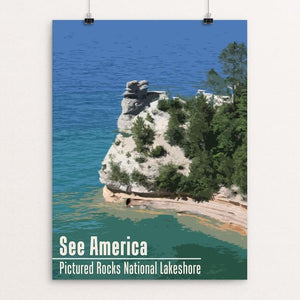 "Pictured Rocks National Lakeshore by Katie 12"" by 16"" Print / Unframed Print See America"