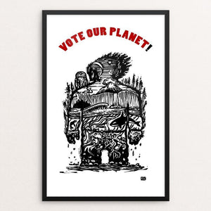 "Planet 1 by Jeff Petersen 12"" by 18"" Print / Framed Print Vote Our Planet"