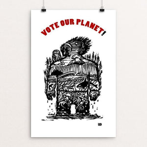 "Planet 1 by Jeff Petersen 12"" by 18"" Print / Unframed Print Vote Our Planet"