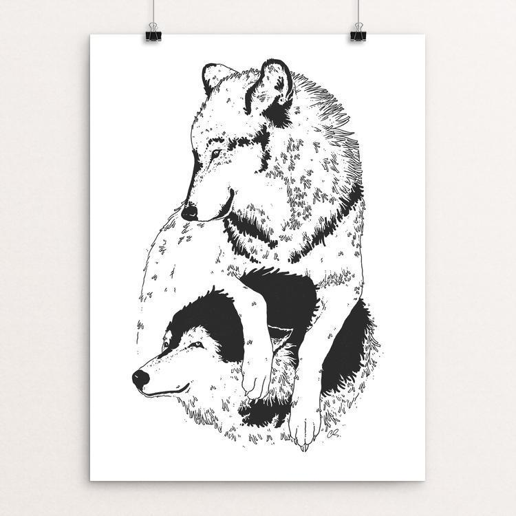 "Play with us by Caro Lacid 12"" by 16"" Print / Unframed Print Join the Pack"