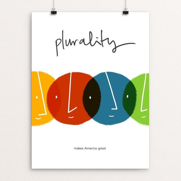 "Plurality by Juana Medina 12"" by 16"" Print / Unframed Print What Makes America Great"