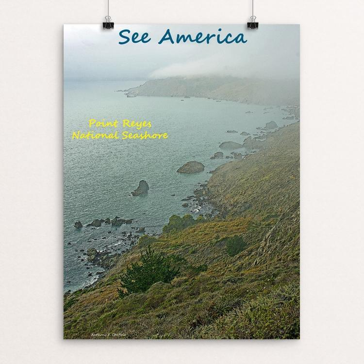 "Point Reyes National Seashore 1 by Anthony Chiffolo 12"" by 16"" Print / Unframed Print See America"