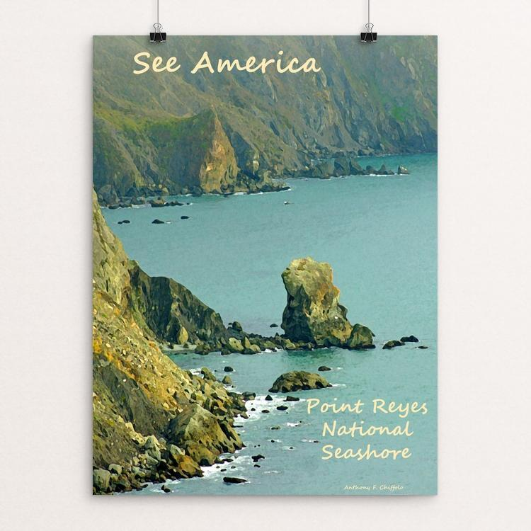 "Point Reyes National Seashore 2 by Anthony Chiffolo 18"" by 24"" Print / Unframed Print See America"