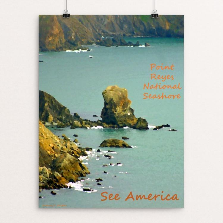 "Point Reyes National Seashore by Anthony Chiffolo 18"" by 24"" Print / Unframed Print See America"