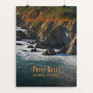 "Point Reyes National Seashore by Ed Gaither 12"" by 16"" Print / Unframed Print See America"