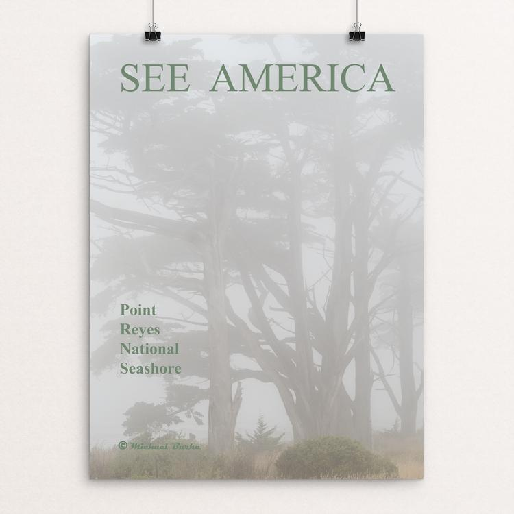 "Point Reyes National Seashore by Michael Burke 12"" by 16"" Print / Unframed Print See America"