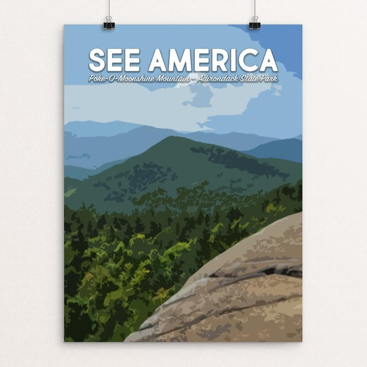 "Poke-O-Moonshine Mountain, Adirondack State Park by Mary Stasilli 12"" by 16"" Print / Unframed Print See America"