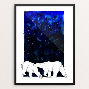 "Polar Bears by Anike Nurnberger 12"" by 16"" Print / Framed Print Creative Action Network"