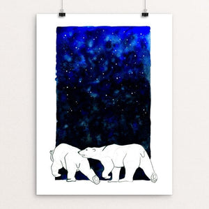 "Polar Bears by Anike Nurnberger 12"" by 16"" Print / Unframed Print Creative Action Network"