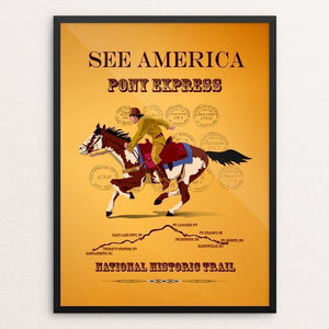 "Pony Express National Historic Trail by Lyla Paakkanen 12"" by 16"" Print / Framed Print See America"