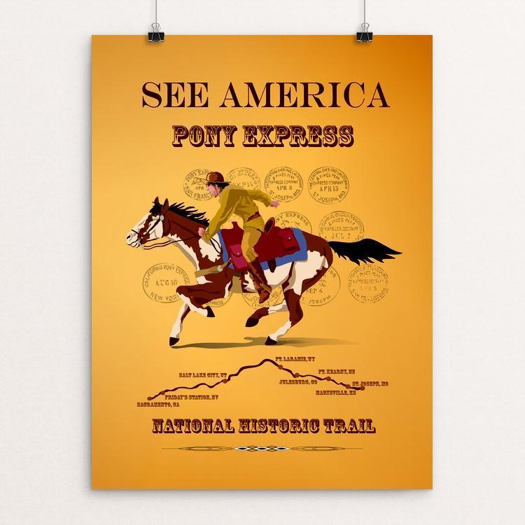 "Pony Express National Historic Trail by Lyla Paakkanen 12"" by 16"" Print / Unframed Print See America"
