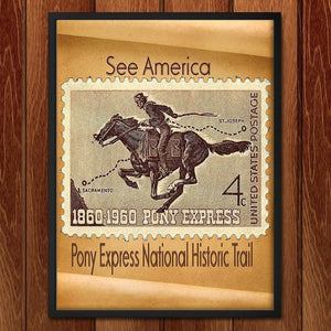 "Pony Express National Historic Trail by Sierranne 12"" by 16"" Print / Framed Print See America"