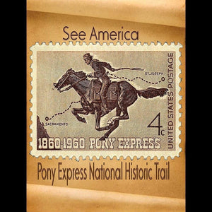 "Pony Express National Historic Trail by Sierranne 12"" by 16"" Print / Unframed Print See America"