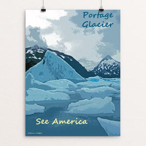 "Portage Glacier, Chugach National Forest 2 by Anthony Chiffolo 12"" by 16"" Print / Unframed Print See America"