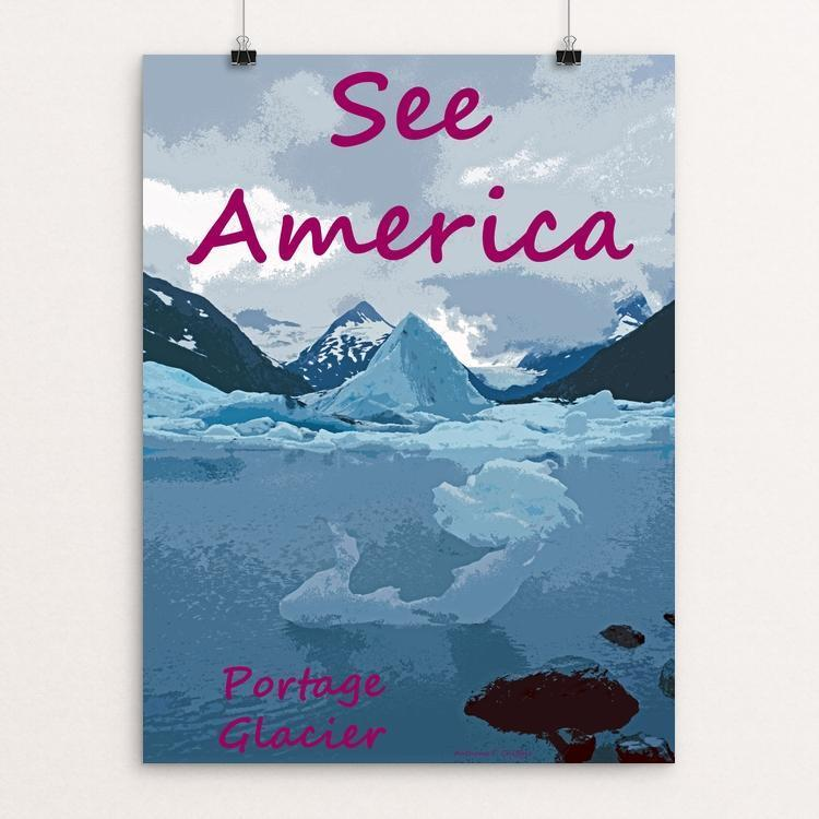 "Portage Glacier, Chugach National Forest by Anthony Chiffolo 12"" by 16"" Print / Unframed Print See America"