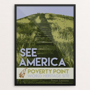 "Poverty Point World Heritage Site by Robin Rials Williams 12"" by 16"" Print / Framed Print See America"