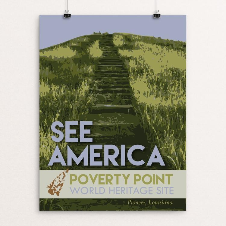 "Poverty Point World Heritage Site by Robin Rials Williams 12"" by 16"" Print / Unframed Print See America"