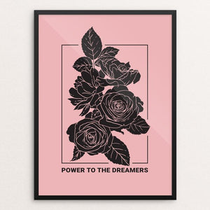 "Power to the Dreamers by Heldáy de la Cruz 12"" by 16"" Print / Framed Print Creative Action Network"