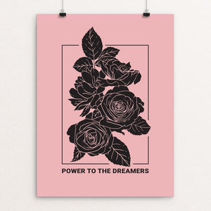 "Power to the Dreamers by Heldáy de la Cruz 12"" by 16"" Print / Unframed Print Creative Action Network"
