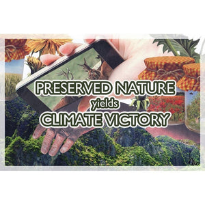 "Preserved Nature Yields Climate Victory by Monika Mori 18"" by 12"" Print / Unframed Print Climate Victory"