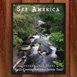 "Presque Isle River, North Country National Scenic Trail 2 by Katie 12"" by 16"" Print / Framed Print See America"