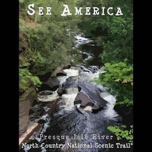 "Presque Isle River, North Country National Scenic Trail 2 by Katie 12"" by 16"" Print / Unframed Print See America"