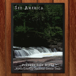 "Presque Isle River, North Country National Scenic Trail by Katie 12"" by 16"" Print / Framed Print See America"