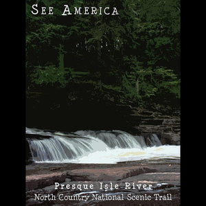 "Presque Isle River, North Country National Scenic Trail by Katie 12"" by 16"" Print / Unframed Print See America"
