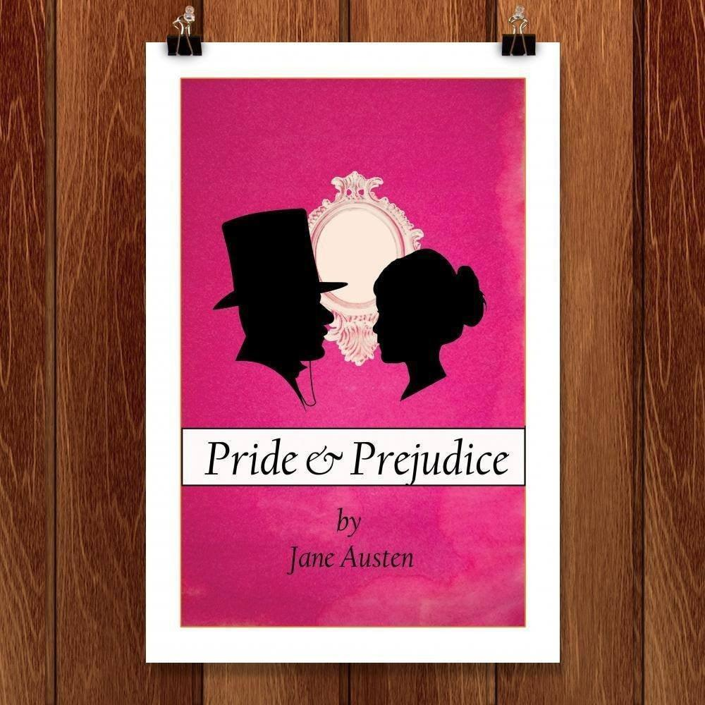 "Pride and Prejudice by Kassandra Black 12"" by 18"" Print / Unframed Print Recovering the Classics"