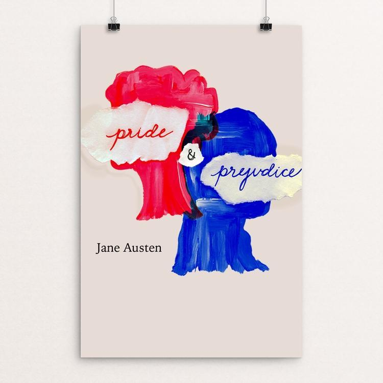 "Pride and Prejudice by Stephanie Lamb 12"" by 18"" Print / Unframed Print Recovering the Classics"