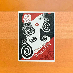 Pride and Prejudice Sticker by Vikram Nongmaithem Stickers Recovering the Classics
