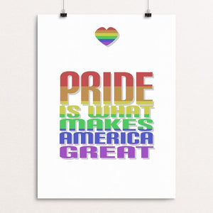 "Pride by Addison Miller 12"" by 16"" Print / Unframed Print What Makes America Great"
