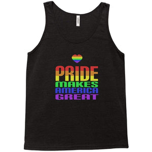 Pride Tank Top by Addison Miller Black Heather / Extra Small (XS) Tank Top Creative Action Network