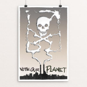 "Project: siXth eXtinction 2 by Jeffrey Hurt 12"" by 18"" Print / Unframed Print Vote Our Planet"
