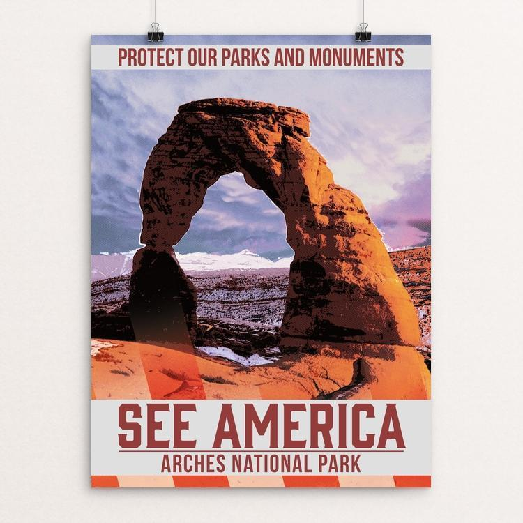 "Protect Our Parks: Arches by Christopher Williams 12"" by 16"" Print / Unframed Print See America"