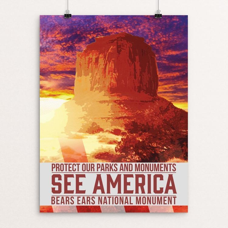 "Protect Our Parks: Bears Ears by Christopher Williams 12"" by 16"" Print / Unframed Print See America"