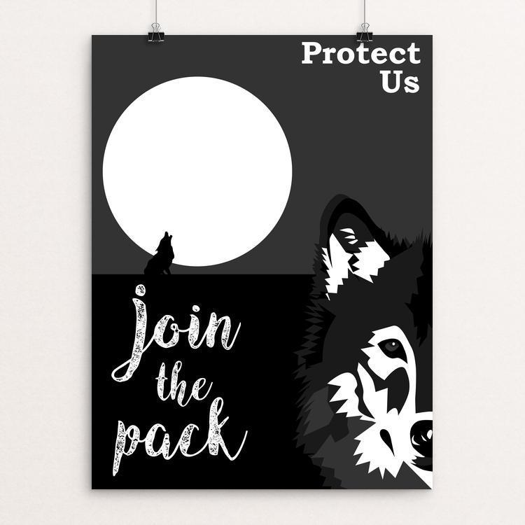 "Protect Us-Join The Pack by Meredith Watson 12"" by 16"" Print / Unframed Print Join the Pack"