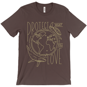 Protect What You Love Men's T-Shirt by Rachel Young Brown / Extra Small (XS) T-Shirt Creative Action Network