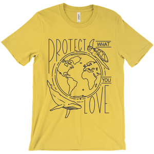 Protect What You Love Men's T-Shirt by Rachel Young Gold / Small (S) T-Shirt Creative Action Network
