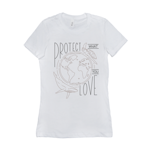 Protect What You Love Women's T-Shirt by Rachel Young White / Small (S) T-Shirt Creative Action Network