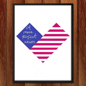 "Proud Heart by Carly Draws 18"" by 24"" Print / Framed Print A More Perfect Union"