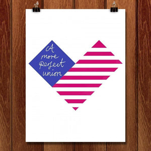 "Proud Heart by Carly Draws 18"" by 24"" Print / Unframed Print A More Perfect Union"