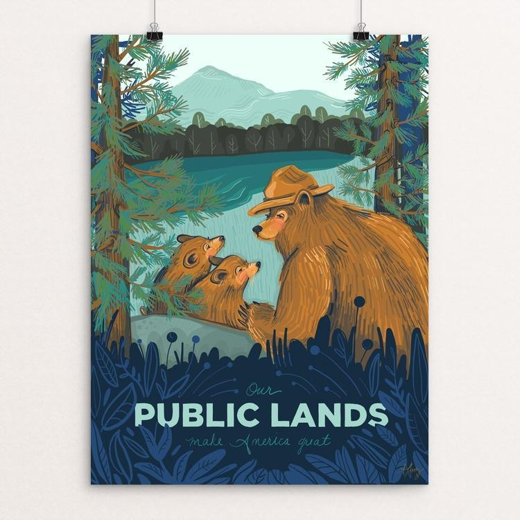 "Public Lands by Amanda Lenz 12"" by 16"" Print / Unframed Print What Makes America Great"