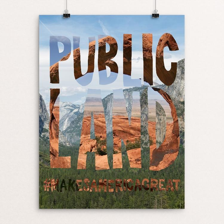 "Public Lands by Matthew Kerkhof 12"" by 16"" Print / Unframed Print What Makes America Great"