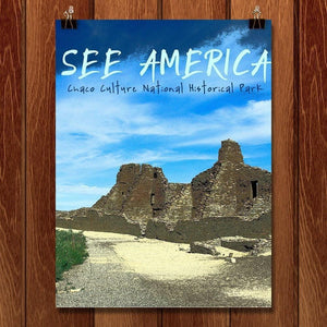 "Pueblo Bonito at Chaco Culture National Historical Park by Kaitlyn 12"" by 16"" Print / Unframed Print See America"