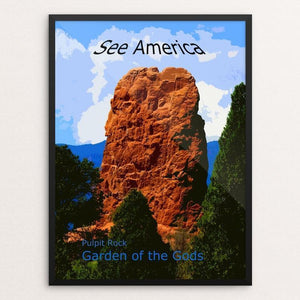 "Pulpit Rock, Garden of the Gods by Rodney A. Buxton 12"" by 16"" Print / Framed Print See America"