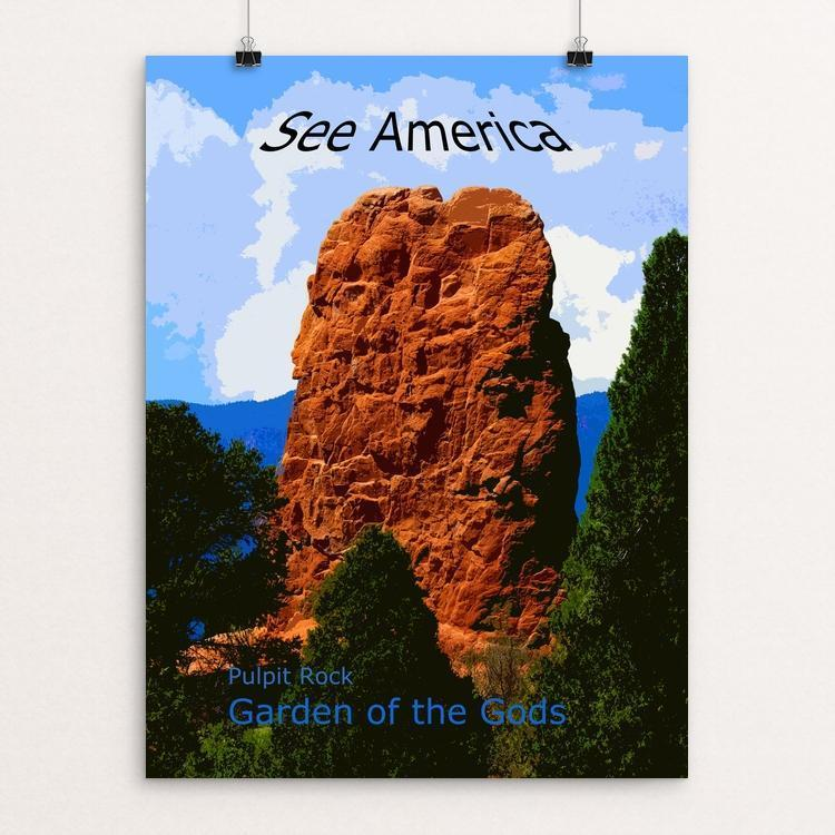 "Pulpit Rock, Garden of the Gods by Rodney A. Buxton 12"" by 16"" Print / Unframed Print See America"