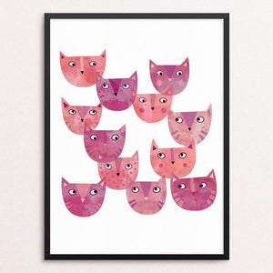 "Pussy Cat Power by Nic Squirrell 12"" by 16"" Print / Framed Print Creative Action Network"