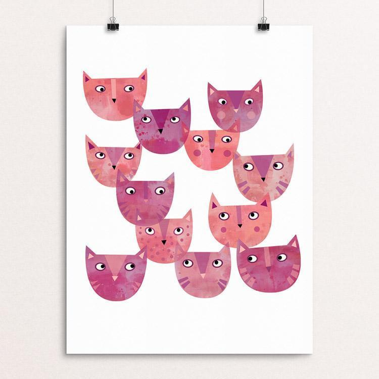 "Pussy Cat Power by Nic Squirrell 12"" by 16"" Print / Unframed Print Creative Action Network"